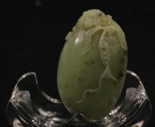Chinese He Tian Celadon Jade Carved Chilong