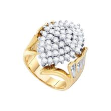 NATURAL 2.00CTW ROUND DIAMOND LADIES CLUSTER RING 10KT Yellow Gold #54333