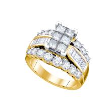 NATURAL 3.00CTW DIAMOND INVISIBLE RING 14KT Yellow Gold #66918
