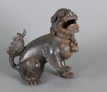 Chinese Qing or Ming Bronze Fu Dog