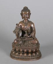 Chinese Qing Period Bronze Buddha Figure