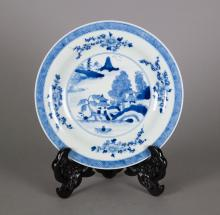 Chinese Export Kangxi Blue and White Plate