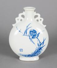 Chinese Wang Bu Blue and White Porcelain Vase