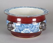 17th/18th C. Blue & White Porcelain Censer Bowl