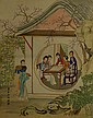 Chinese Watercolour Court Painting Leng Xiang