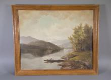 German Oil on Board Upper Bavaria Mountains
