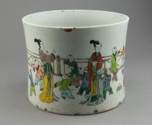 Qing Period Chinese Famille Rose Brushpot
