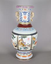 Chinese Famille Rose Six Faced Porcelain Vase
