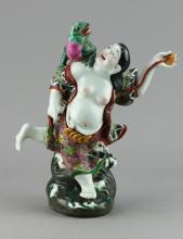 Late Qing Period Chinese Porcelain Figure Signed