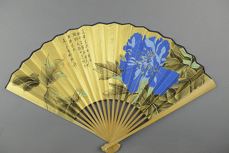 Chinese Style Of Zhang Daqian Fan Painting