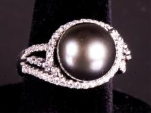 Black South Sea Pearl Ring Appraised $1525