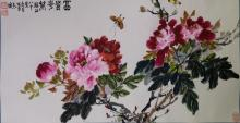 Chinese WC Flower Painting Zhensheng (b.1939)