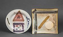 TWO CONTEMPORARY CERAMIC PLATES