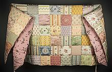 FINE HAND MADE OLD WORLD FABRIC PATCHWORK BED COVER