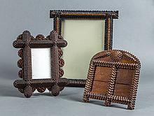 THREE AMERICAN TRAMP ART FRAMES, CIRCA 1900