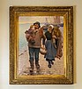 Guillou, A FISHERMAN AND HIS FAMILY, oil on canvas