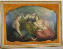 CONTINENTAL SCHOOL, 18/19TH CENTURY, ALLEGORICAL FIGURE