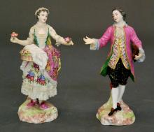 PAIR OF FRENCH PORCELAIN FIGURES