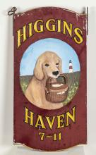 PAINTED HIGGINS HAVEN INN SIGN