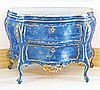 VENETIAN ROCOCO STYLE CARVED AND PAINTED BOMBAY COMMODE