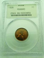 1926 MS 66 RD Lincoln Cent PCGS Old Holder