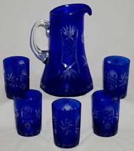 Cobalt Blue Water Set