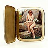 Double lidded erotic cigarette case