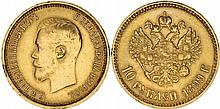 Russia. Nicholas II (1894-1917). Gold 10 Rouble,