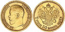 Russia. Nicholas II (1894-1917). Gold 7-1/2 Rouble,