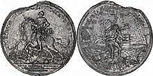 Russia. Peter I (1801-1825). Tin Medal, Battle of Poltava, 27 June 1709,