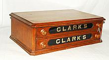 Clarks Two Drawer Spool Cabinet