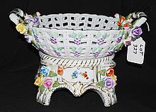Porcelain Footed Basket #2