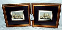 Two Prints of Ships