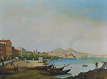 FRANCESCO SAVORI0 TORCIA (1840-1891) Vues animées de Naples, 1871