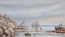 GIANCINTO GIANNI (1837) Vues animées de la Baie de Naples, 1893