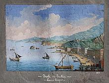 ECOLE ITALIENNE 19ème siècle Vue de l'Ile d'Ischia