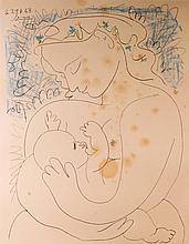 PABLO PICASSO (1881-1973), d'après Mère et l'enfant, allaitement