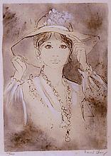 RENARD CHARAY, France 20ème La jeune fille au chapeau