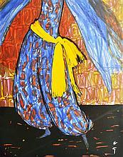 RENE GRUAU (1909-2004) Cover for international Textiles, 1966