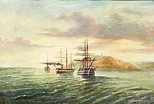 ECOLE FRANCAISE 19ème Port de Crimée