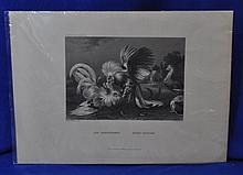 MUSEUM PRINT COCKS FIGHTING BY FRANS SNYDERS XZ