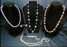 7pc COLORFUL COSTUME JEWELRY GERMANY RHINESTONE AB++ XR