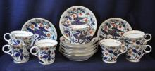 ROYAL WORCESTER INDEPENDENCE 1776 - 7 CUPS 8 SAUCERs XV