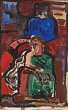 Evie Hone HRHA (1894-1955) Christ Enthroned
