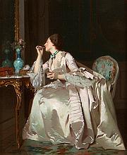 Joseph Carraud (1821-1905) Preparing for the Dance