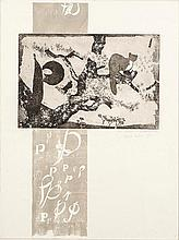 Patrick Hickey HRHA (1927-1998) Letter P Etching,