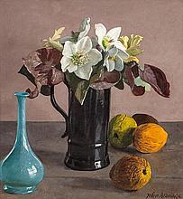 John Aldridge RA (1905-1983) Christmas Roses Oil