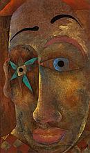 Harry Bilson (b.1948) Clown Oil on board, 65 x