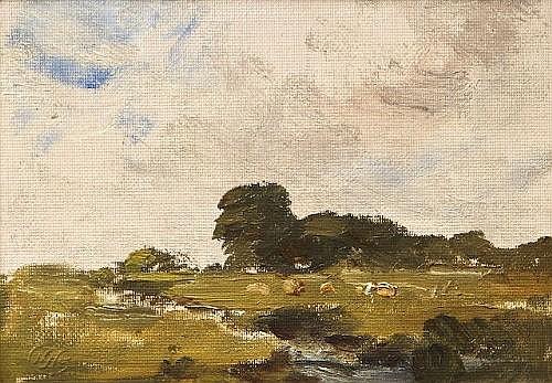 Nathaniel Hone RHA (1831-1917) Landscape with a