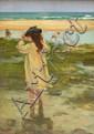 Eva Henrietta Hamilton (1876-1960) Girl Paddling